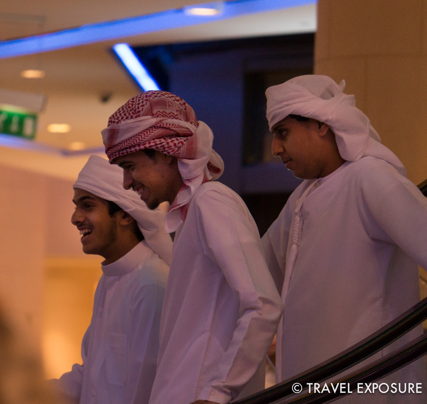 Locals at the Mall of the Emirates, Dubai.