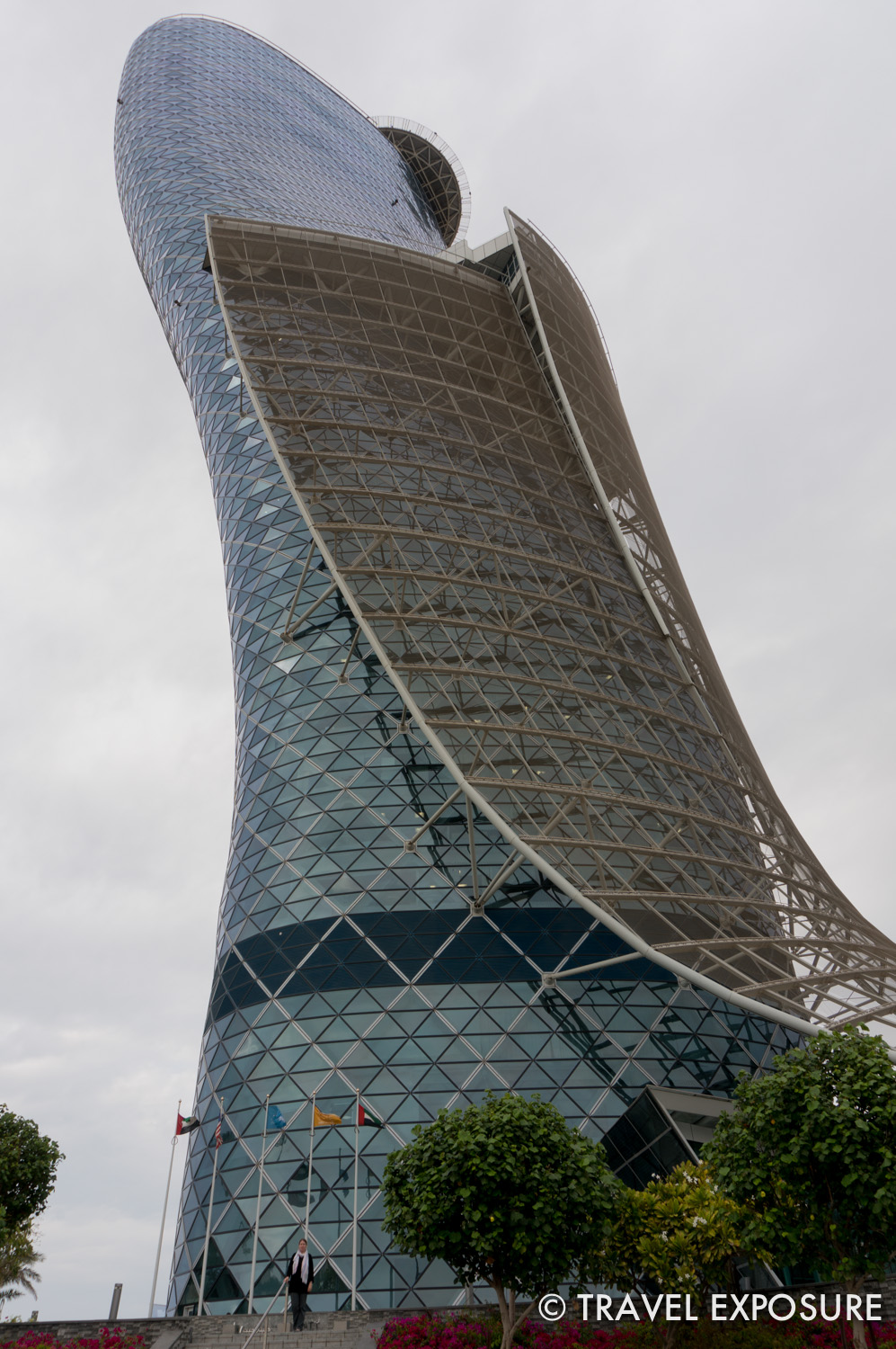 The Capital Gate building in Abu Dhabi leans an astounding 18 degrees.