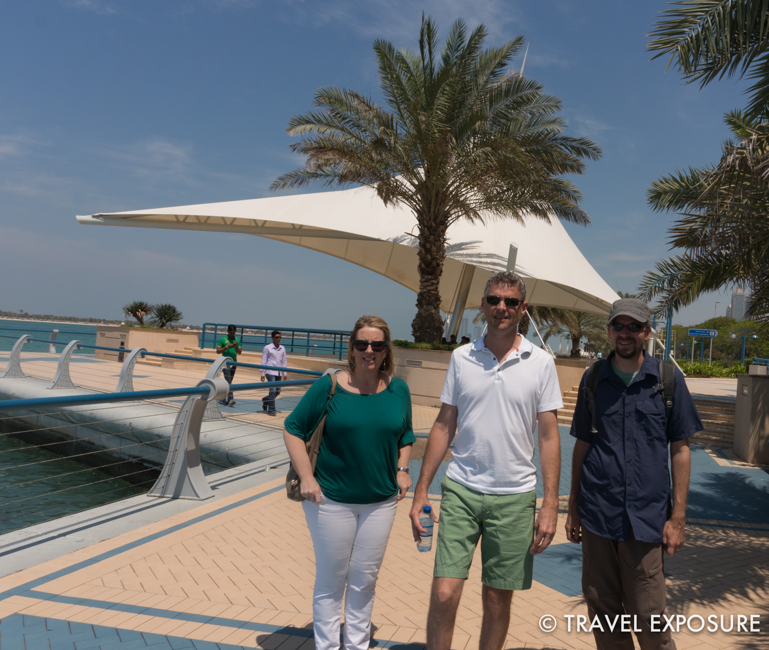 "Took a lovely stroll along the Cornich (waterfront) in Abu Dhabi, where Kathy and Brian will be moving to soon. Sometimes called the ""New York of the Middle East,"" it definitively felt bigger and more urban than Bahrain."