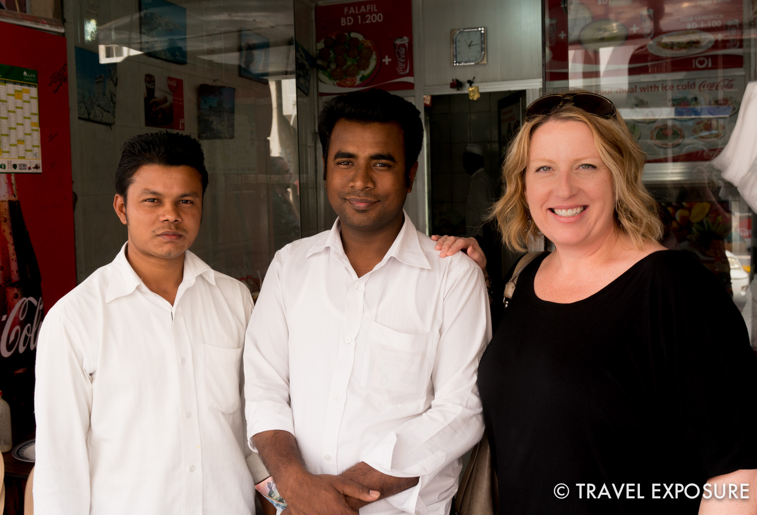 The staff at one of Kathy's favorite local food joints in Bahrain.