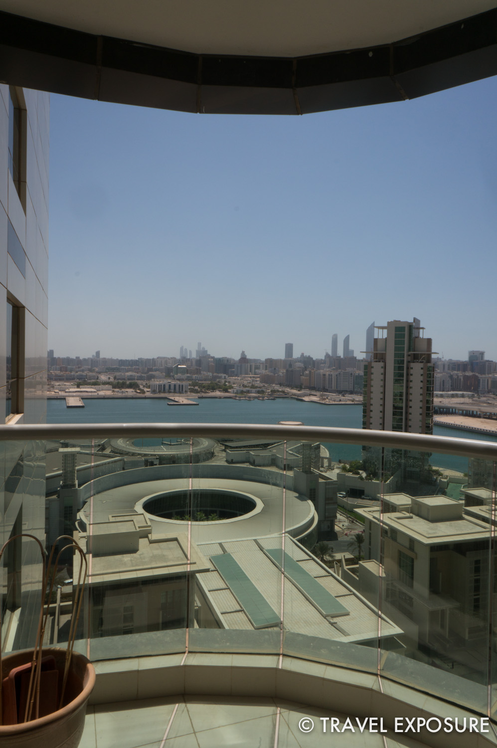 View from Kathy and Brian's apartment balcony in Abu Dhabi.