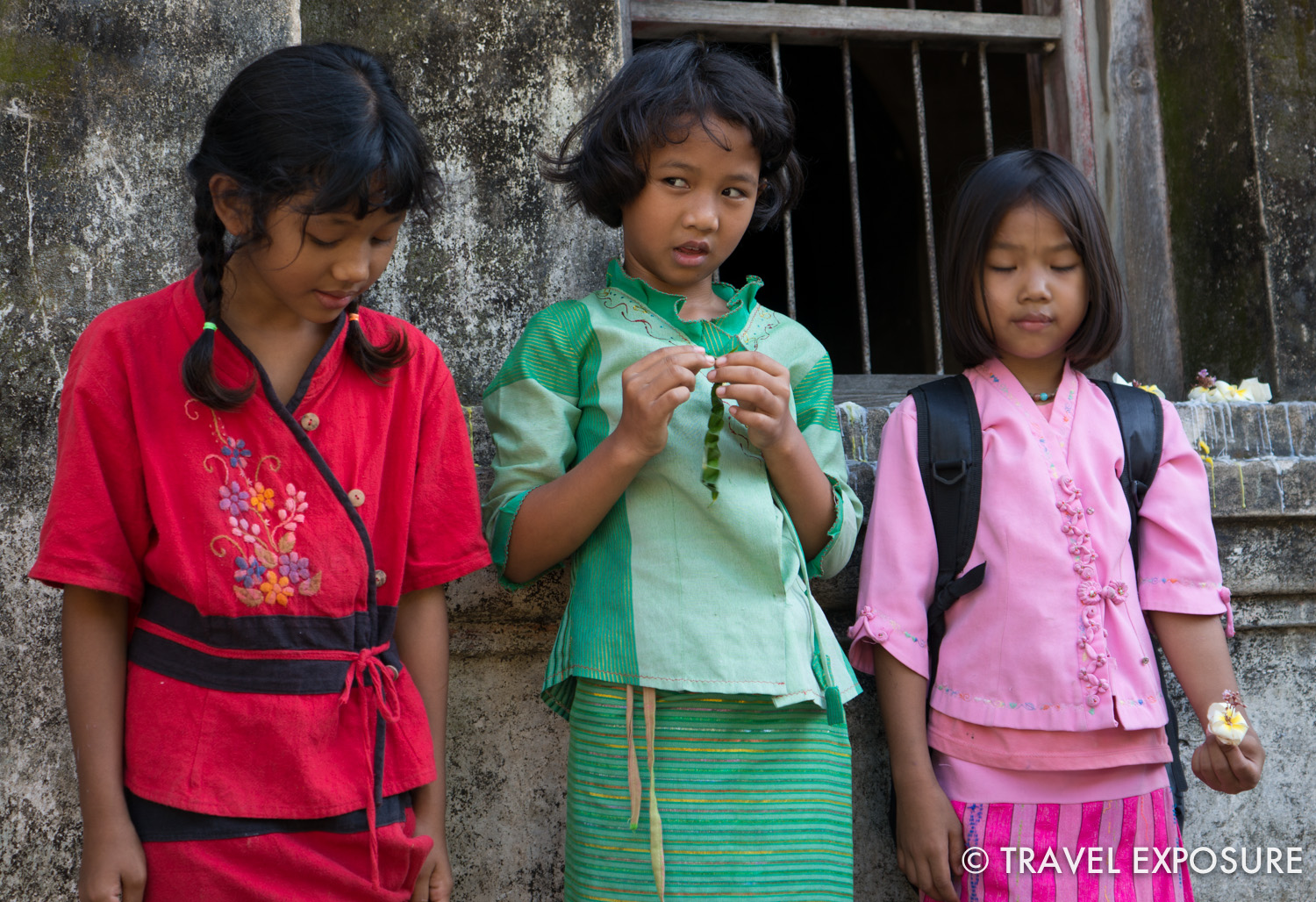 WEEK OF NOVEMBER 3 Children wear traditional Shan dresses at the Wat Pa Pao Temple in Chiang Mai, Thailand.