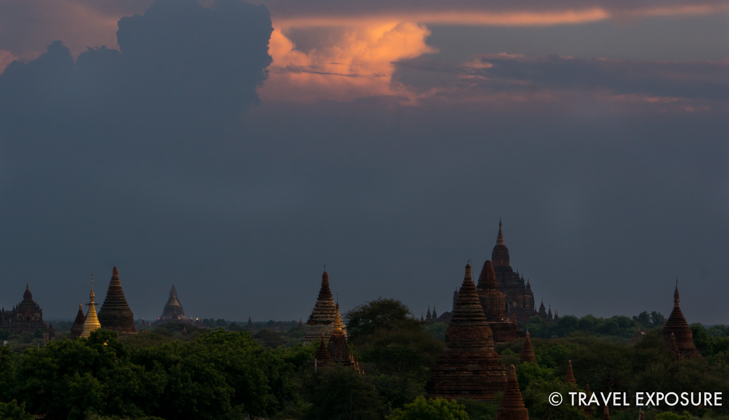 View from Shwe Leik Too Temple (Viewpoint #1)
