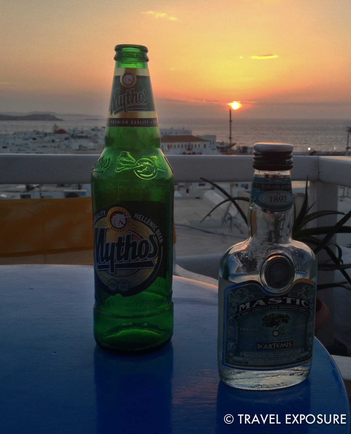 In Mykonos, at least the sunset was quality :)
