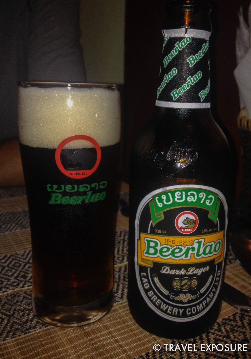 In Lao, this dark lager wins my best beer in Asia award