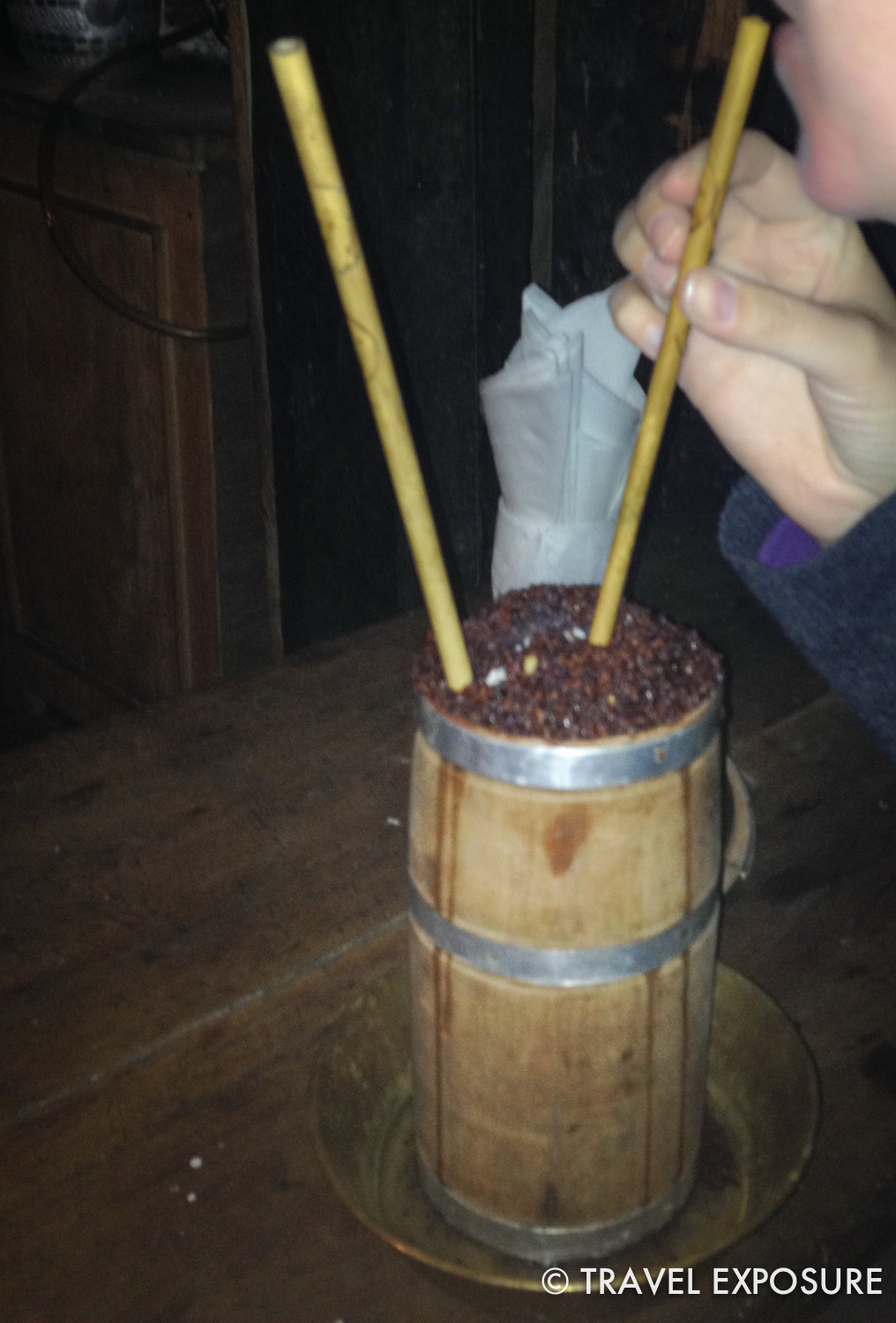 """""""Chhung"""" (tasted like sake) at a homestay in Sikkim"""