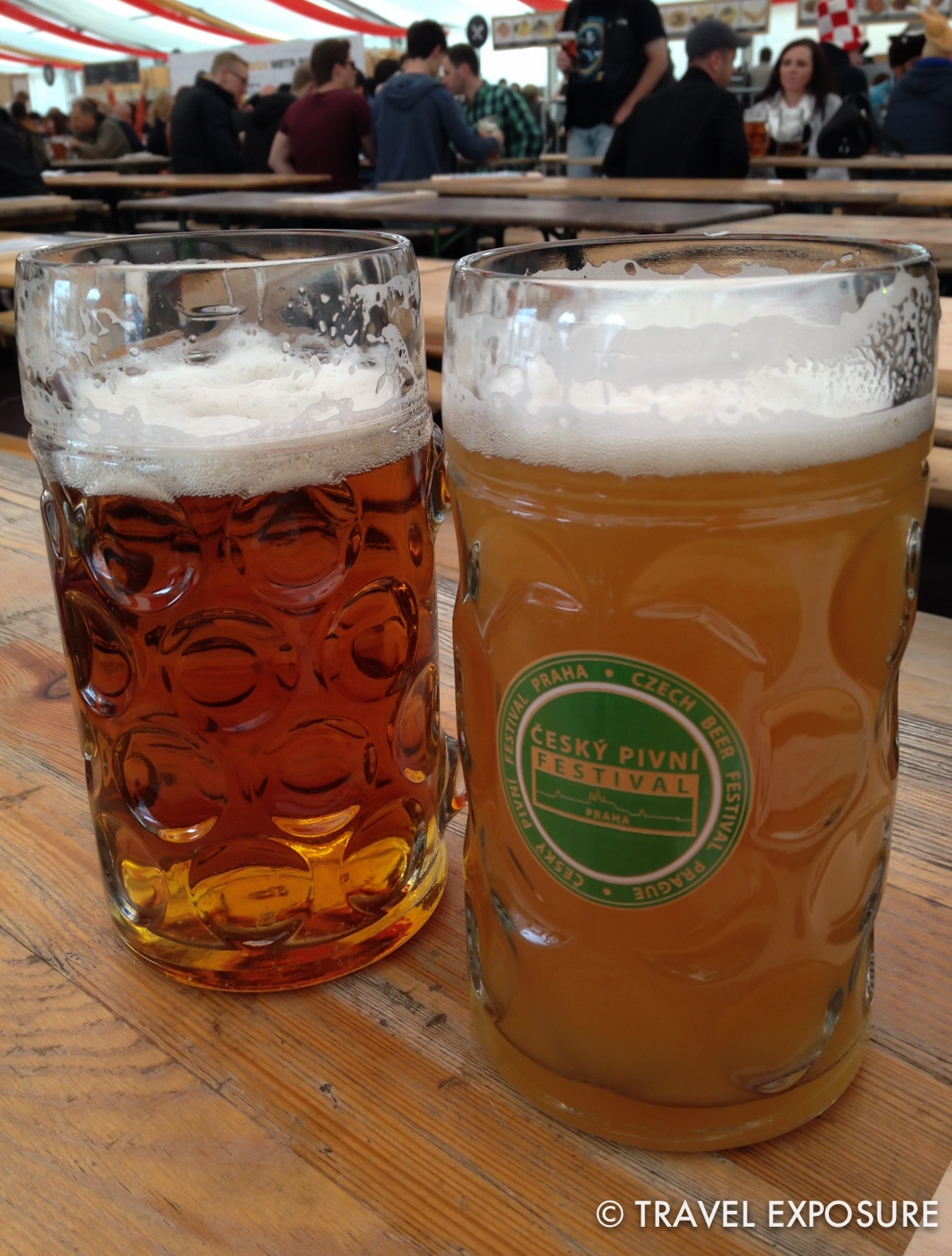 A tangy lager and banana-heavy wheat beer at a beer festival in Prague