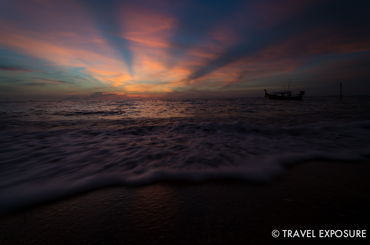 WEEK OF NOVEMBER 24 The sun sets into the Andaman Sea in Koh Lanta, Thailand.