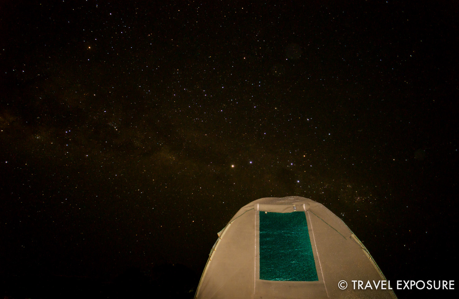 A billion stars lit up the sky while camping in Uganda.