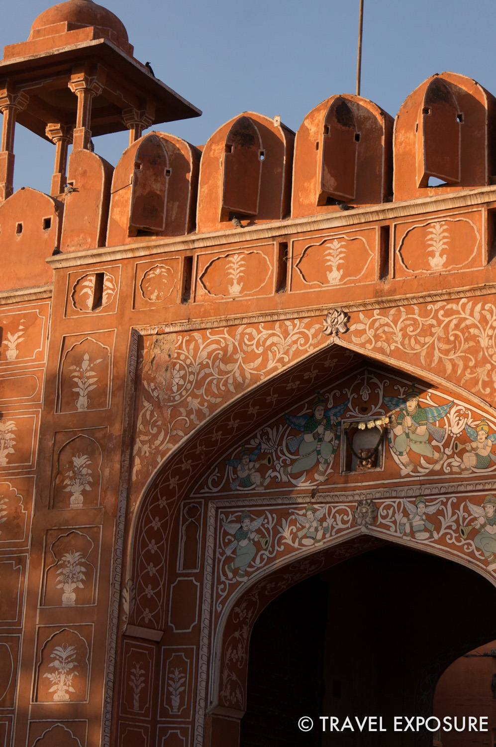 A gate into the old city of Jaipur, India.