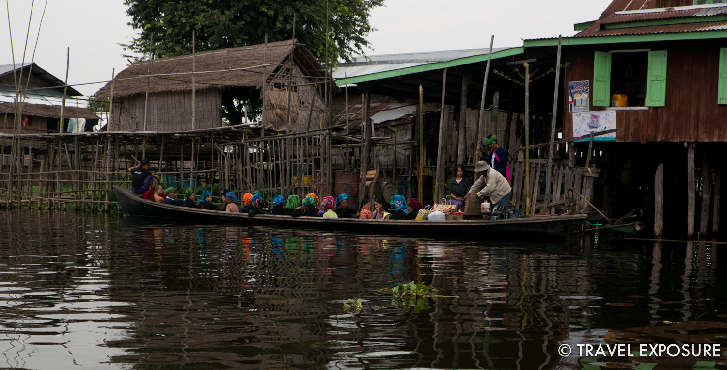Life on the water in Inle Lake, Myanmar.