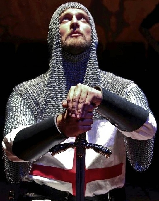 Onstage as Richard in   Richard the First  , photo credit: Jim Norrena