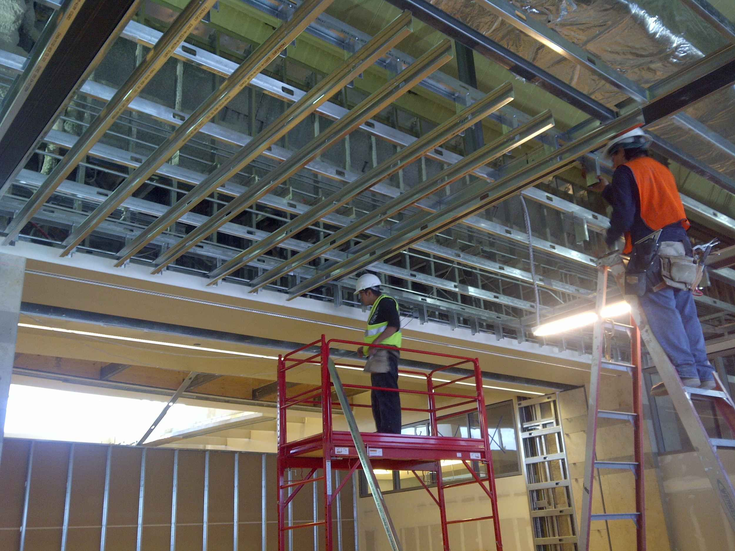 Steel Stud Framing - Tenant Improvement, restaurants and Industrial buildings are just a few of many types of framing work.