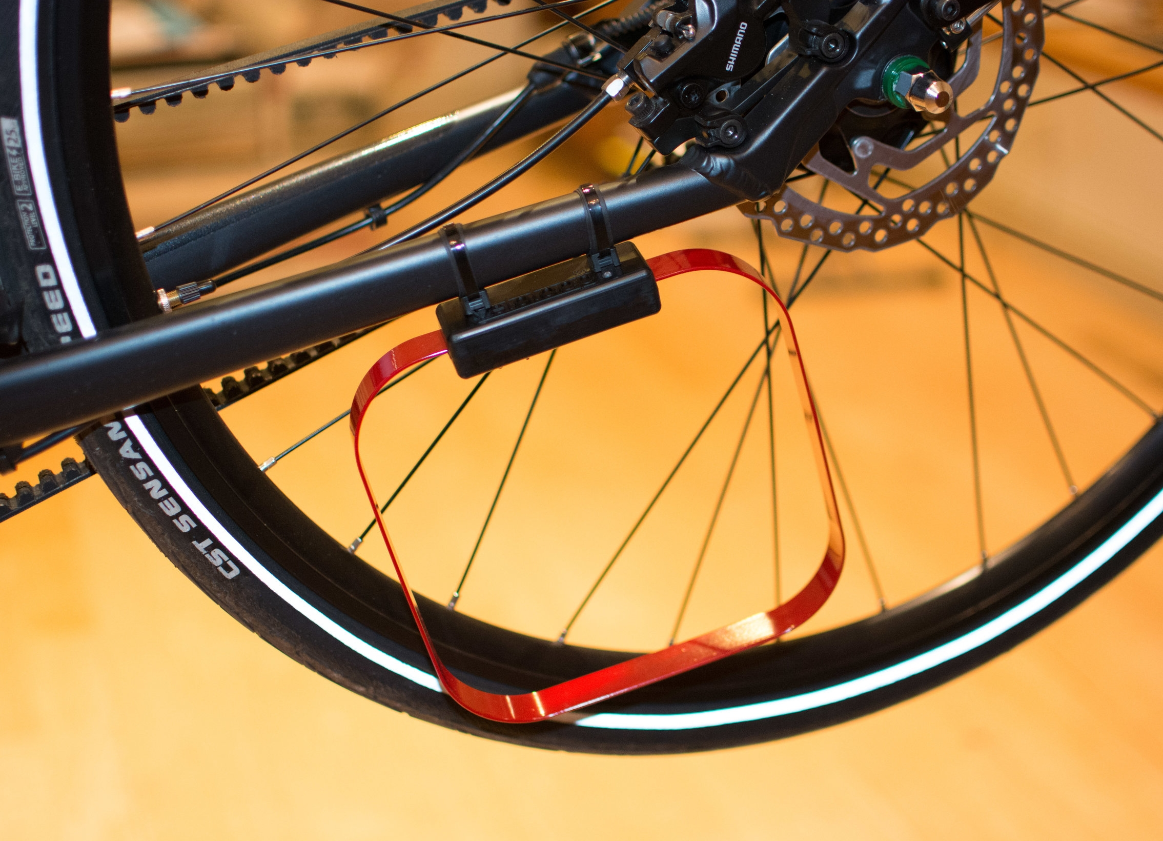 We can work with bike designers and manufacturers to make streamlined mounting, eliminating the zip-ties.
