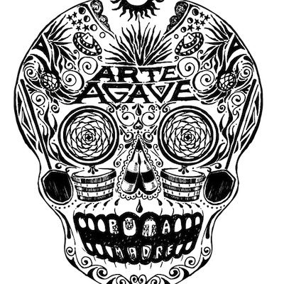 ArteAgaveSkull_WhiteonBlack - 400W.png