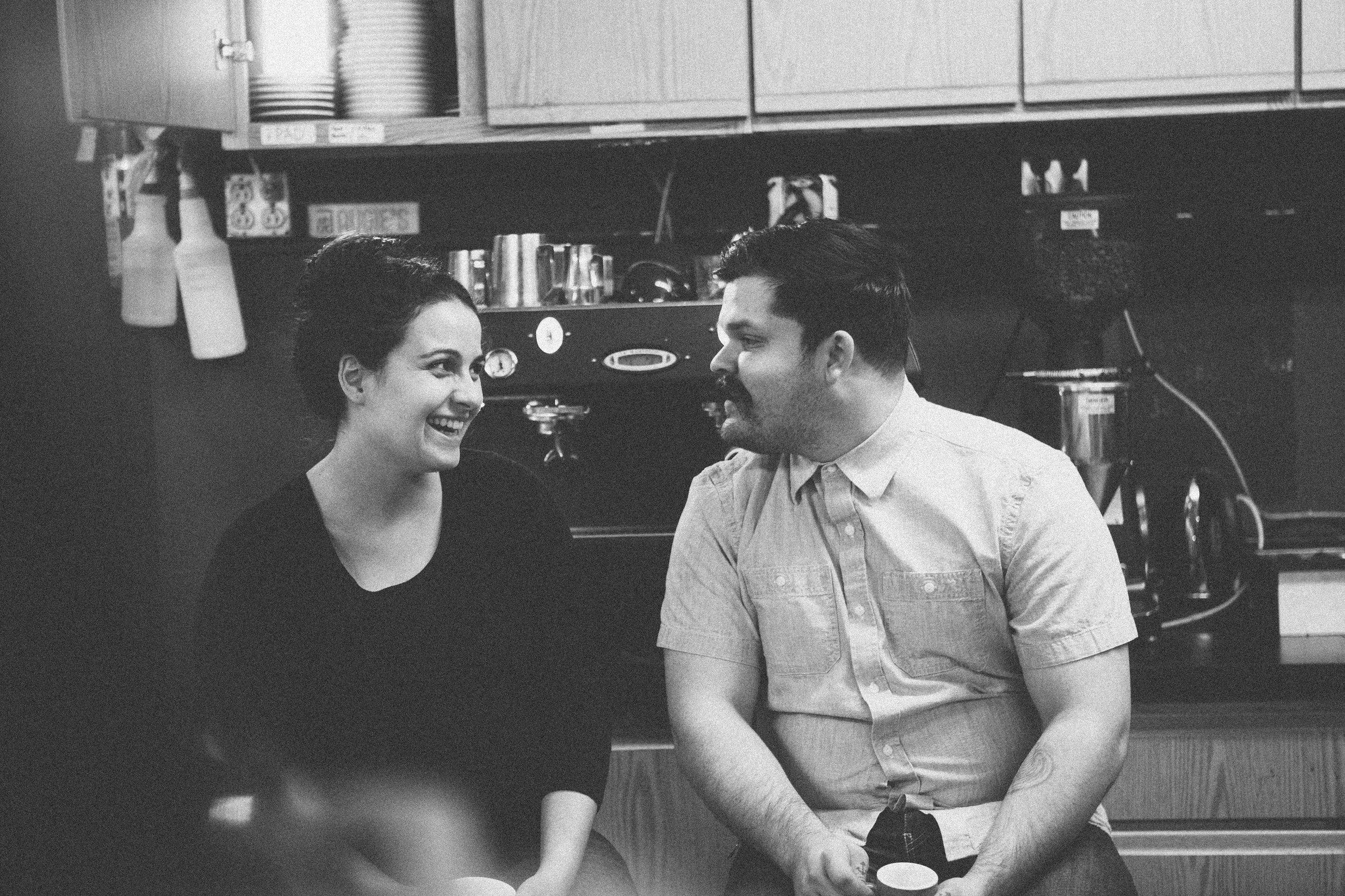 Hannah and Joshua Bonner of   Ladies & Gentleman Coffee  . Photos by  joelbearstudios.com
