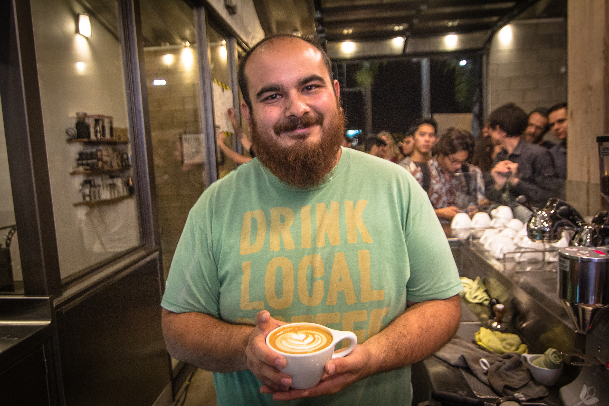 And the winner is... Austin Graham Amento of Augie's Coffee House, Redlands, CA!