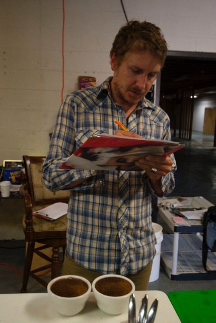 Brian Garhardt, Roaster for The Swell Cafe.  Photo by  J.D DiGiovanni.