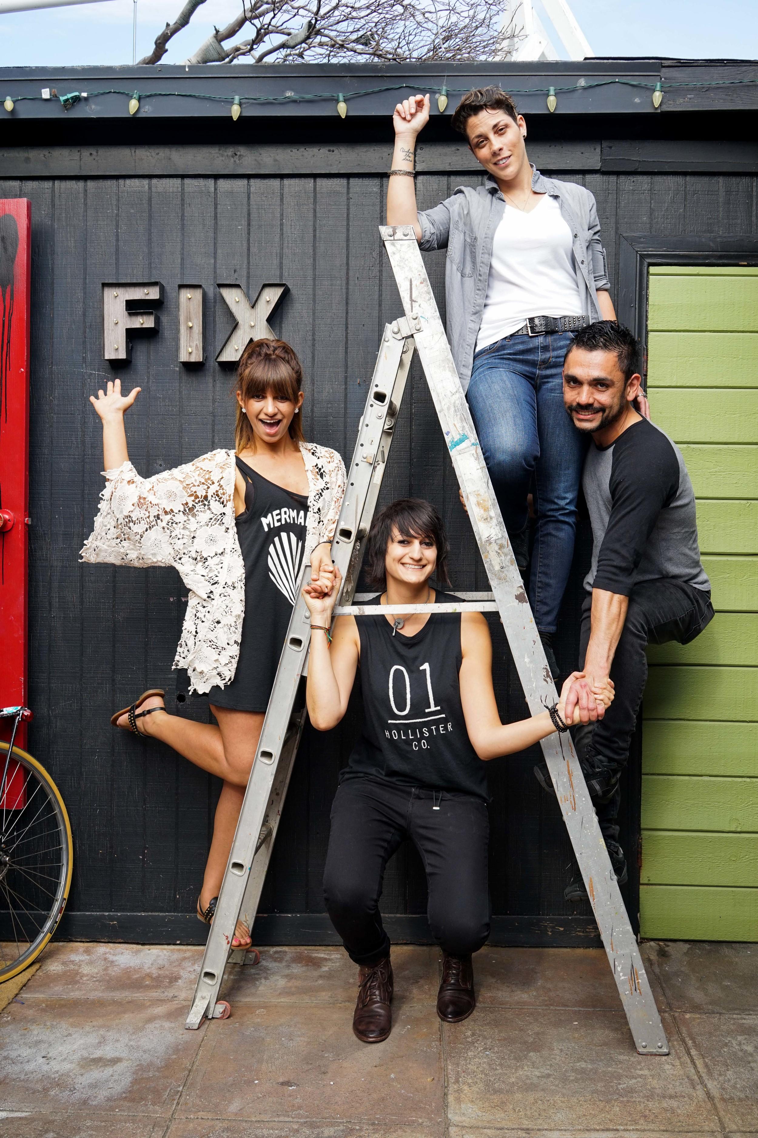 Clockwise: Brandi Kirschbaum, Antonio Zepeda, Dottie Necool and Chanel Konja. Photo by Jose Lopez.
