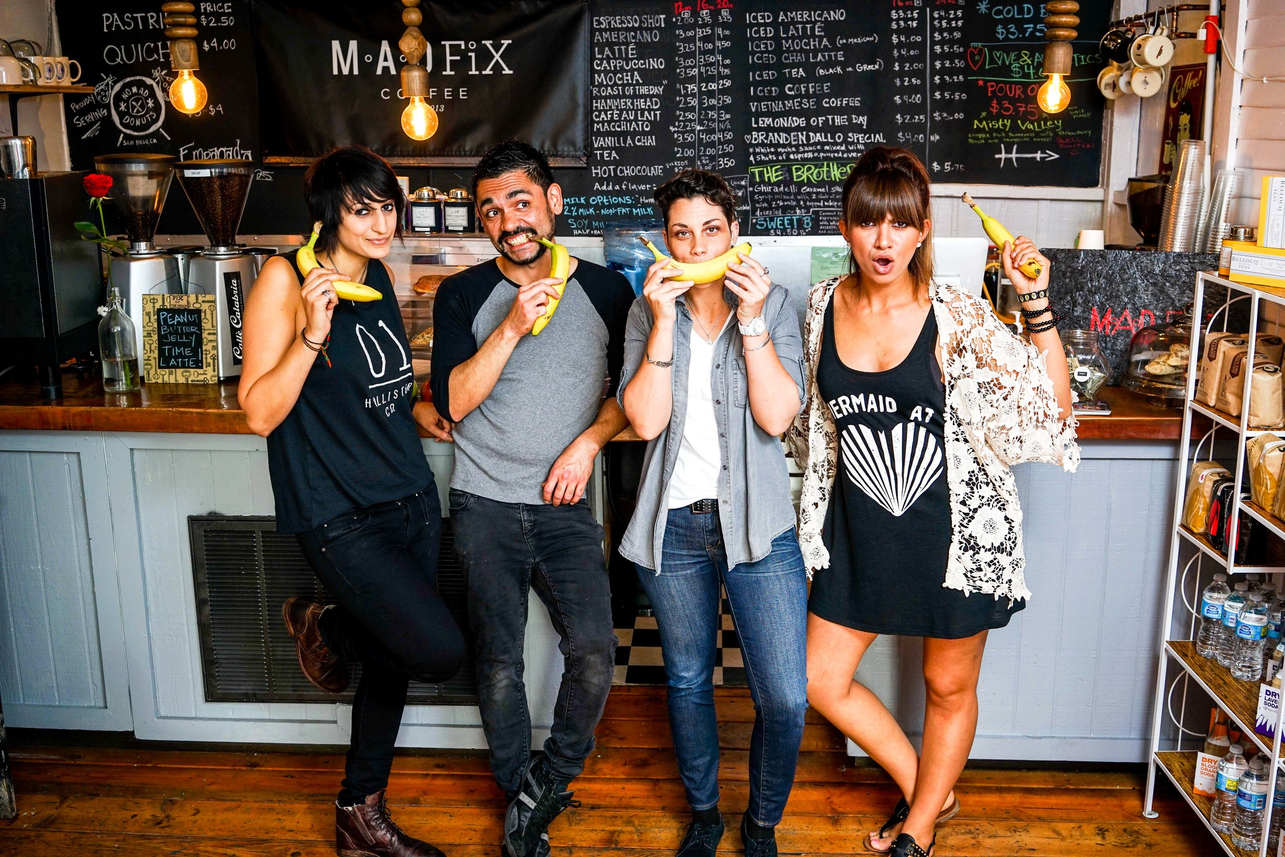 The M.A.D. FiX Team has gone bananas. Photo by Jose Lopez.