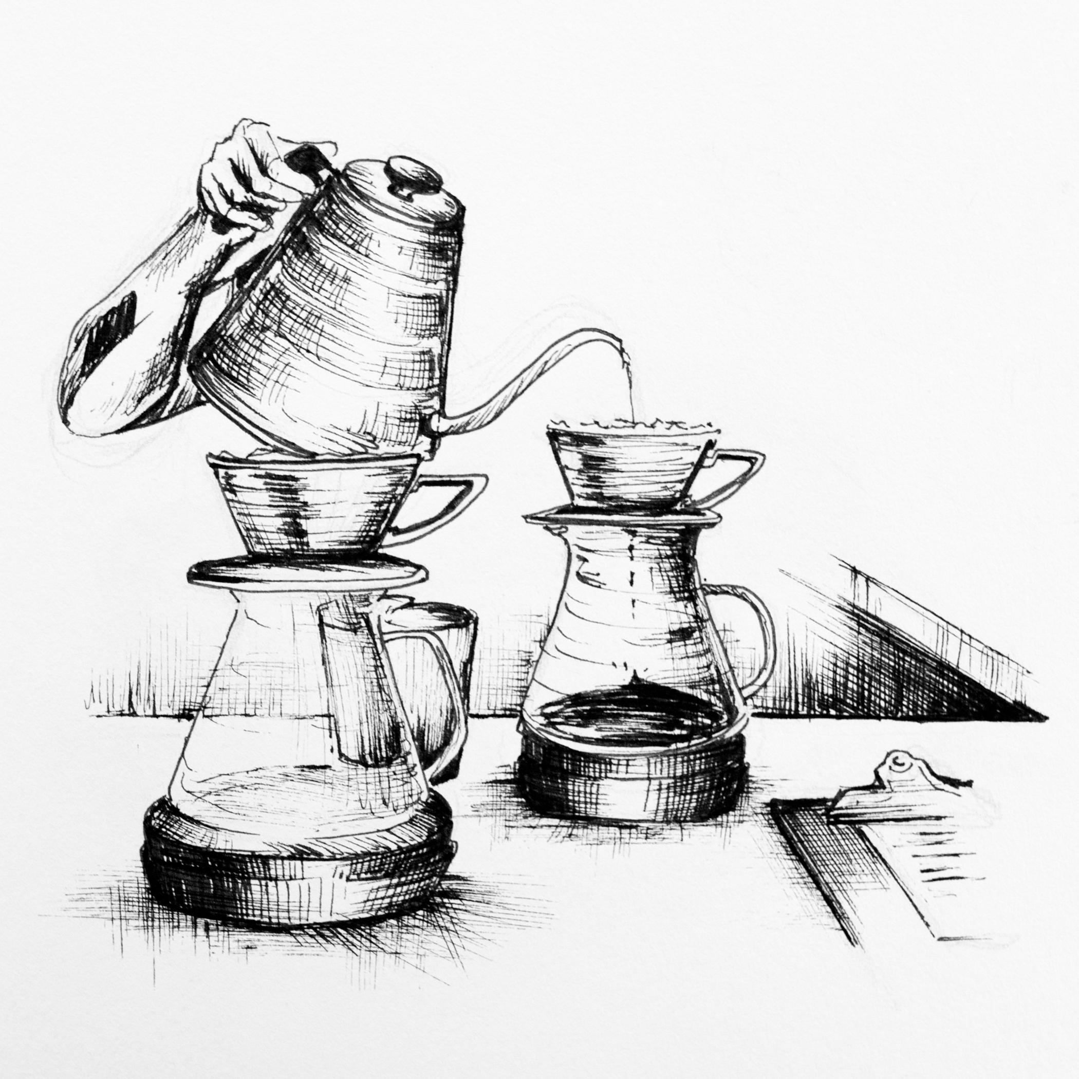WestBean Coffee Roasters.Illustration by Mary Jhun Dandan.