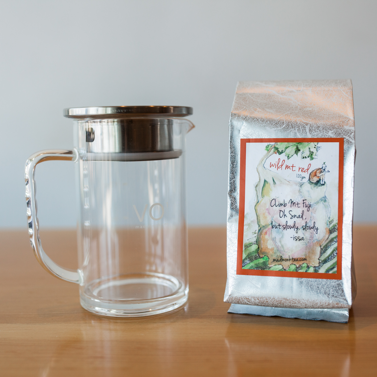 Photo by  Julie Rings .VO 1 Tea Pitcher: $25 Wild Mountain Red Tea: $37
