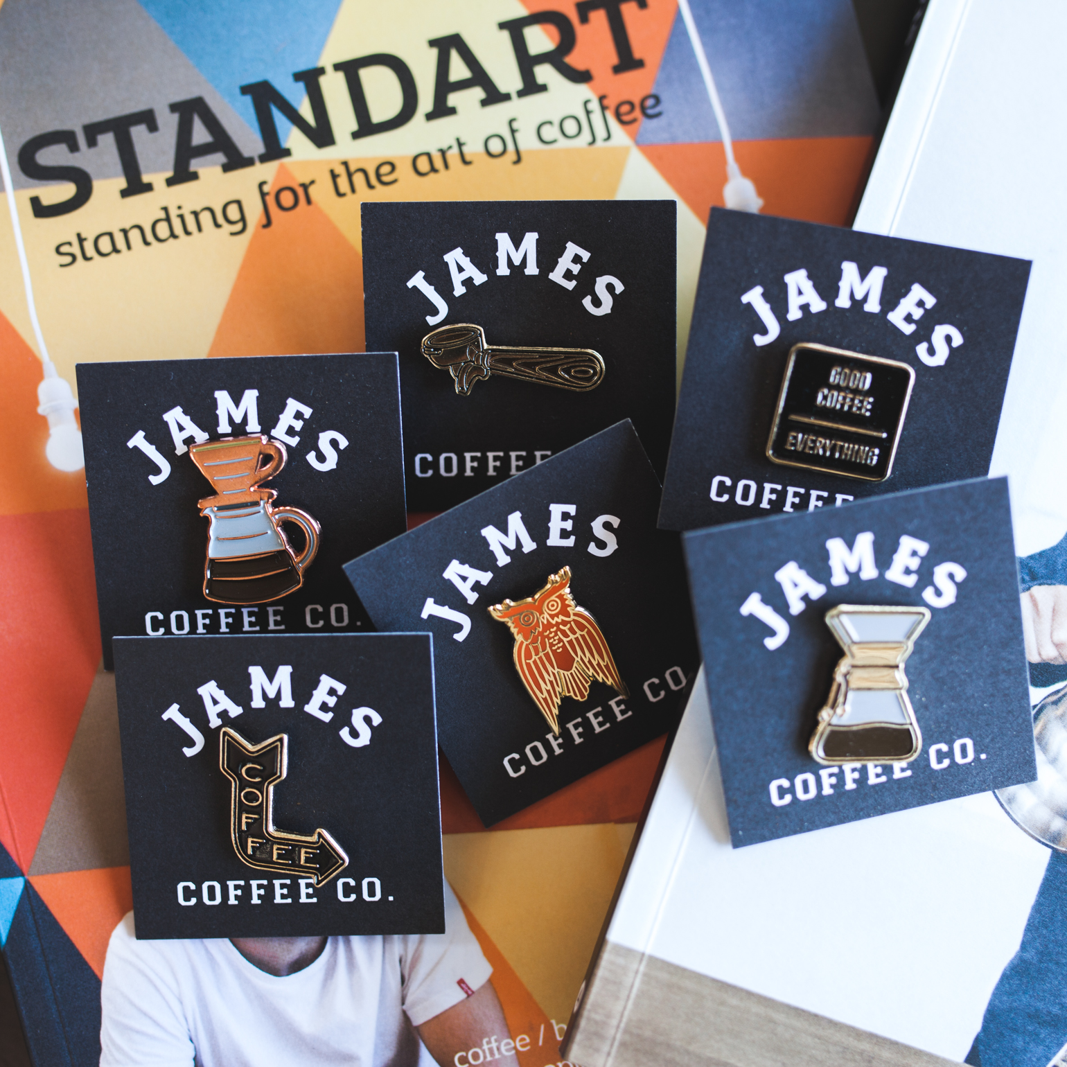 Photo by  Julie Rings .Coffee Pins: $10 Standart Magazine: $15