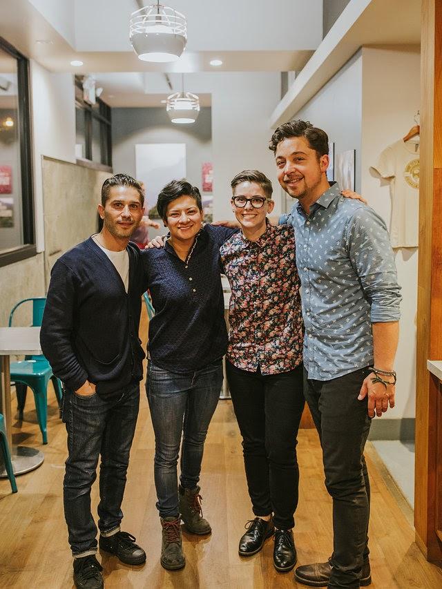 SDCN Team 2017/19. Left to right: Max Dimitrov, Nyah Rodrigez, Kat Adams & Matt Eaton. Photo by   Cameron Justin Yu