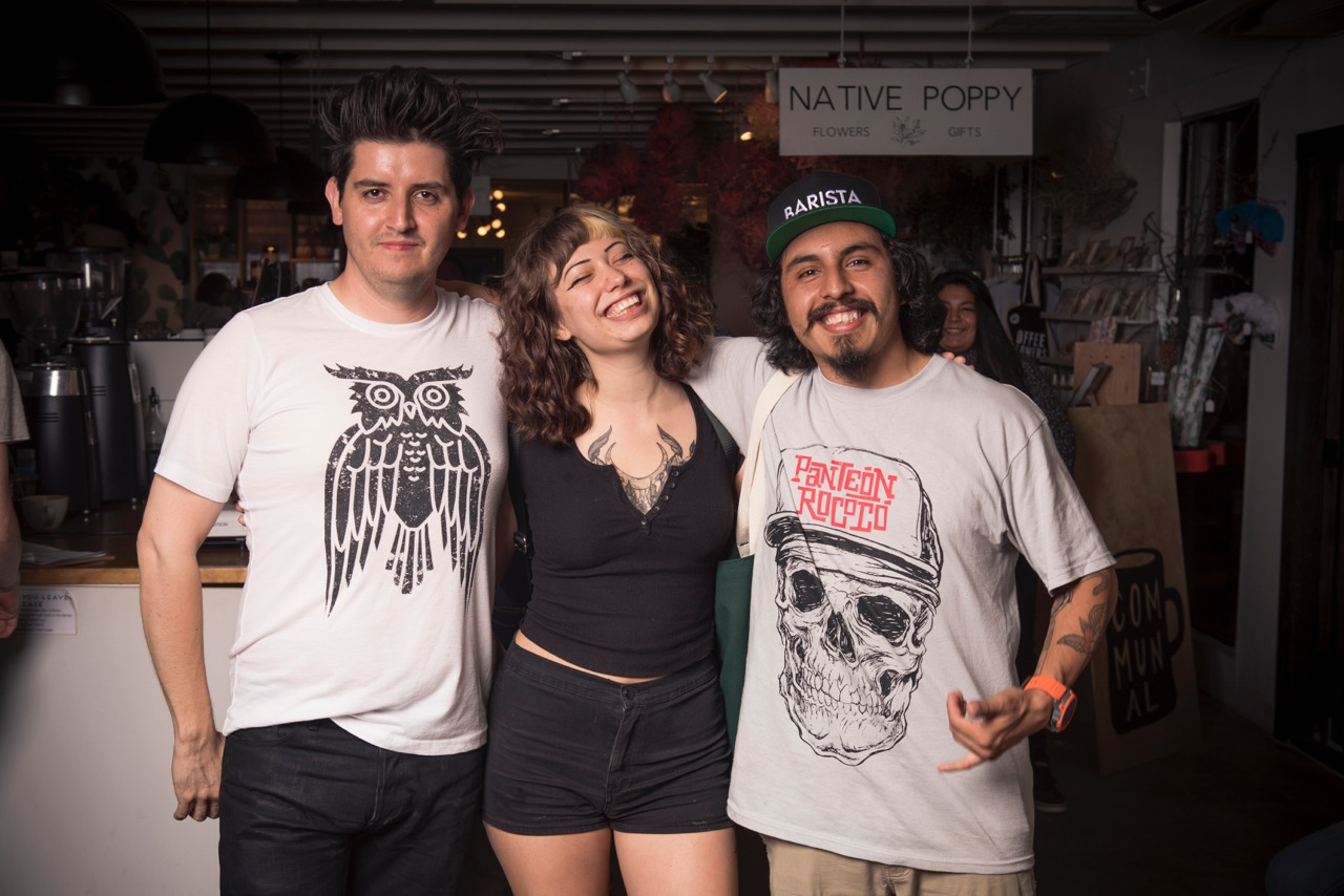 Pictured left to right: James Davalos, Xana Young, Marco Aceves. Photo by Alex Clarke Photo