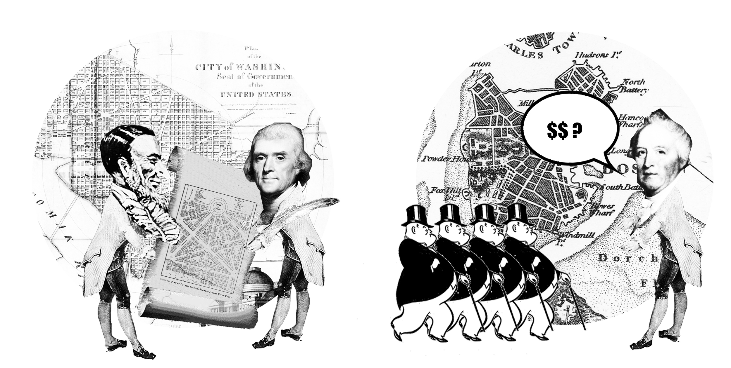 Act 2 Scene 1  Hull and Woodward leave for Washington on Oct 11, 1805 for December meeting of Congress in order to craft the legislation to incorporate the City and the Woodward Plan. Governor Hull goes to Boston to obtain funding from Capitalists.
