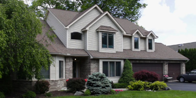 A stately Contemporary on a cul-de-sac close to Binghamton University.