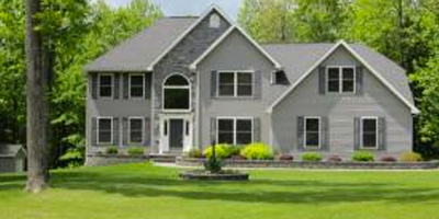 An elegant Contemporary home on a private cul-de-sac with over 5 acres.