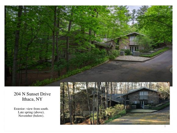 A magnificent, unique, luxury contemporary on over 2 acres overlooking Cayuga Lake.