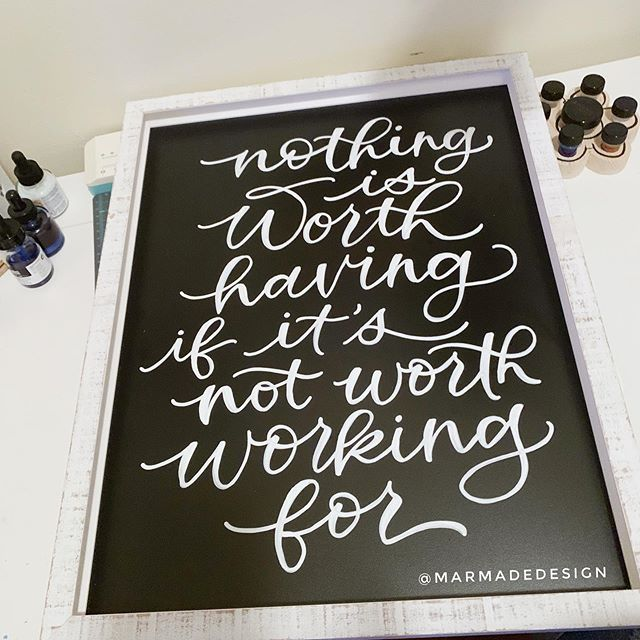 Monday Motivation ⚡️ . . . . #marmadedesign #chalksign #moderncalligraphy #mondaymotivation #calligraphycommunity #poscamarkers #atlantalettering #togetherweletter