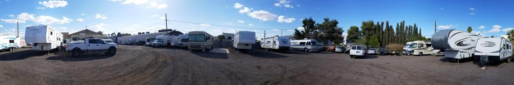 Boats, RVs, Motorhomes,, all with plenty of space for access.