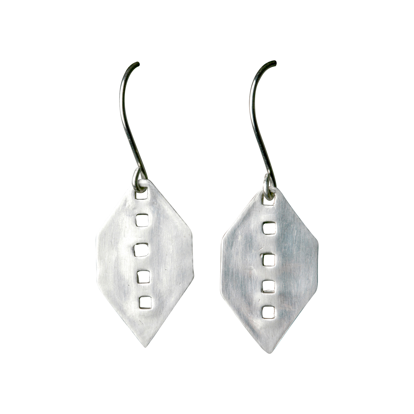 Geometric perforated earrings