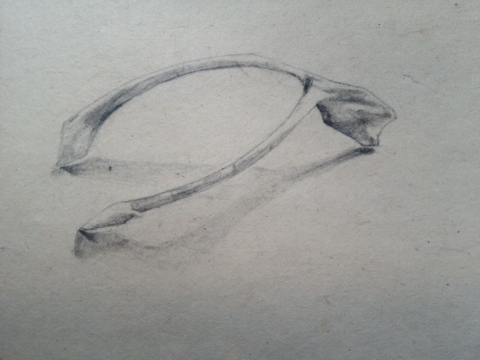 Lead pencil on hand made paper 18 x 18cm