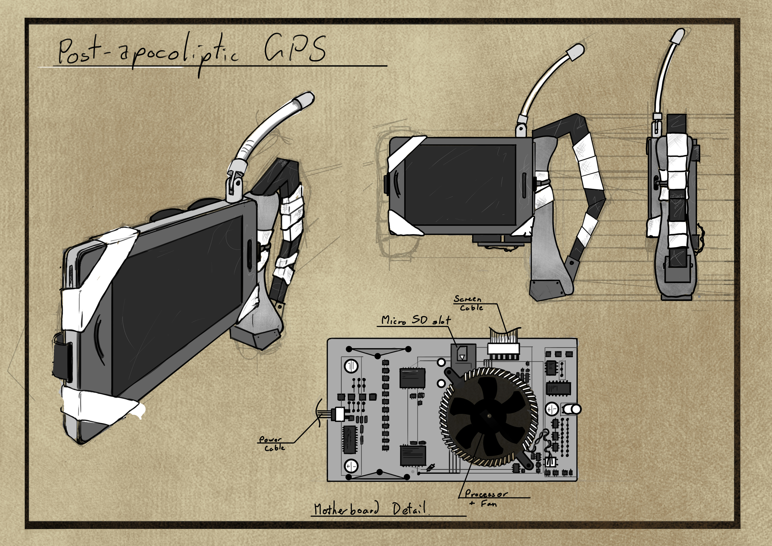 Concept for a handheld device.