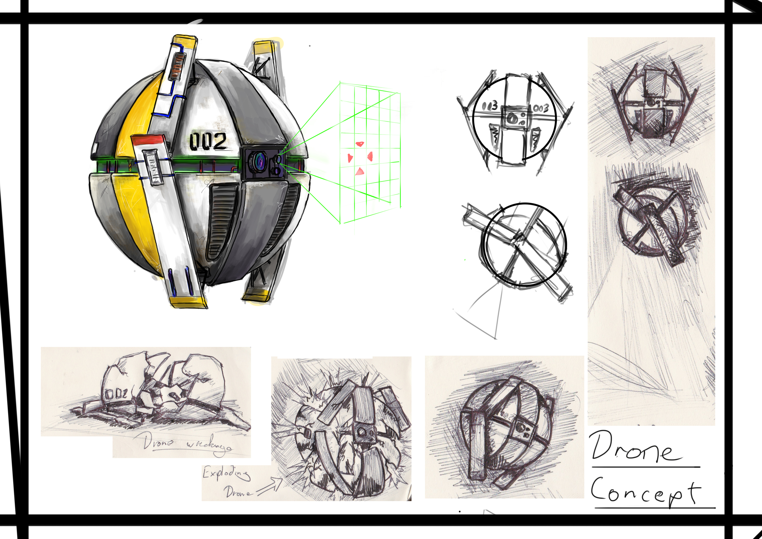 This is the concept for the drone.