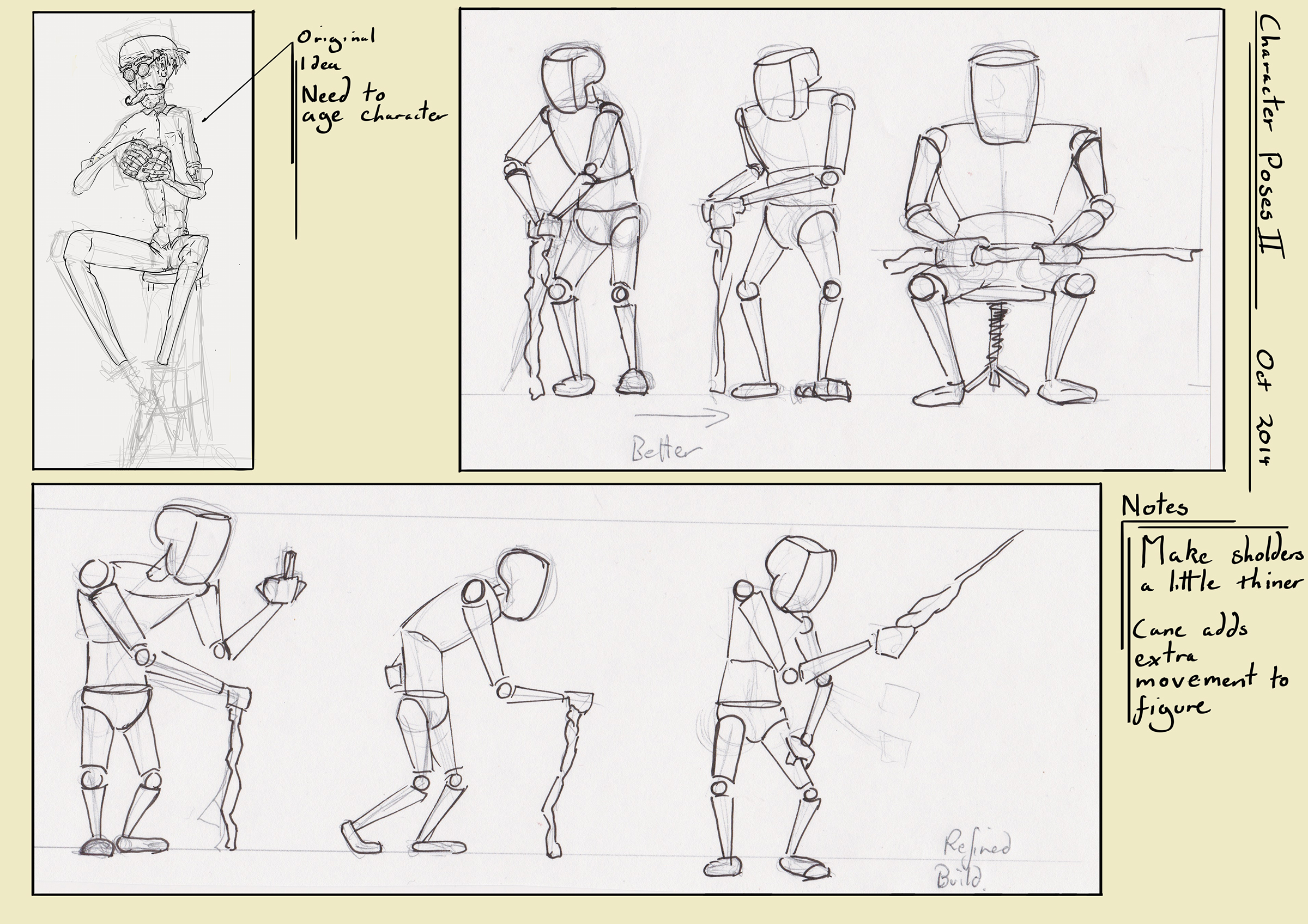 Fleshed out poses