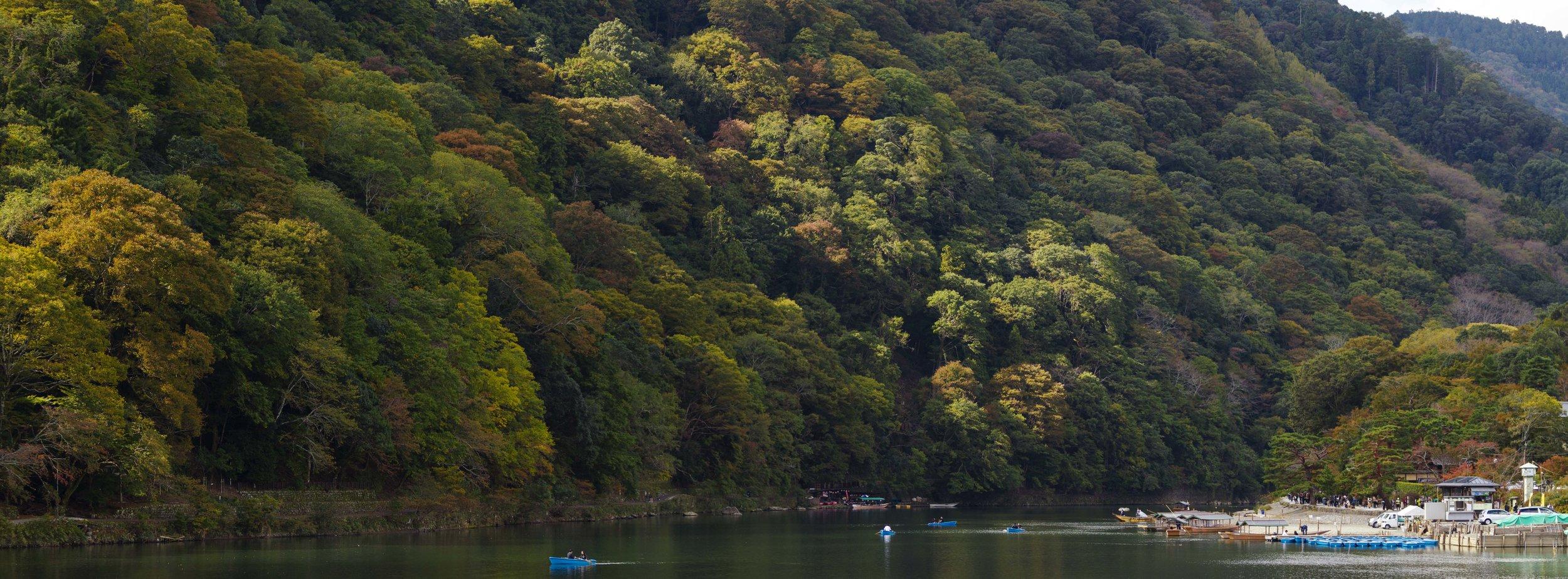Kamo River in Kyoto
