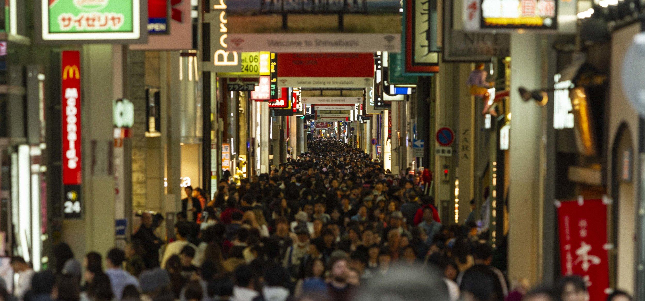 Shinsaibashisuji shopping alley in Osaka