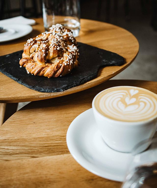 You'll find me wherever there's cinnamon buns (and GREAT coffee!) 😉