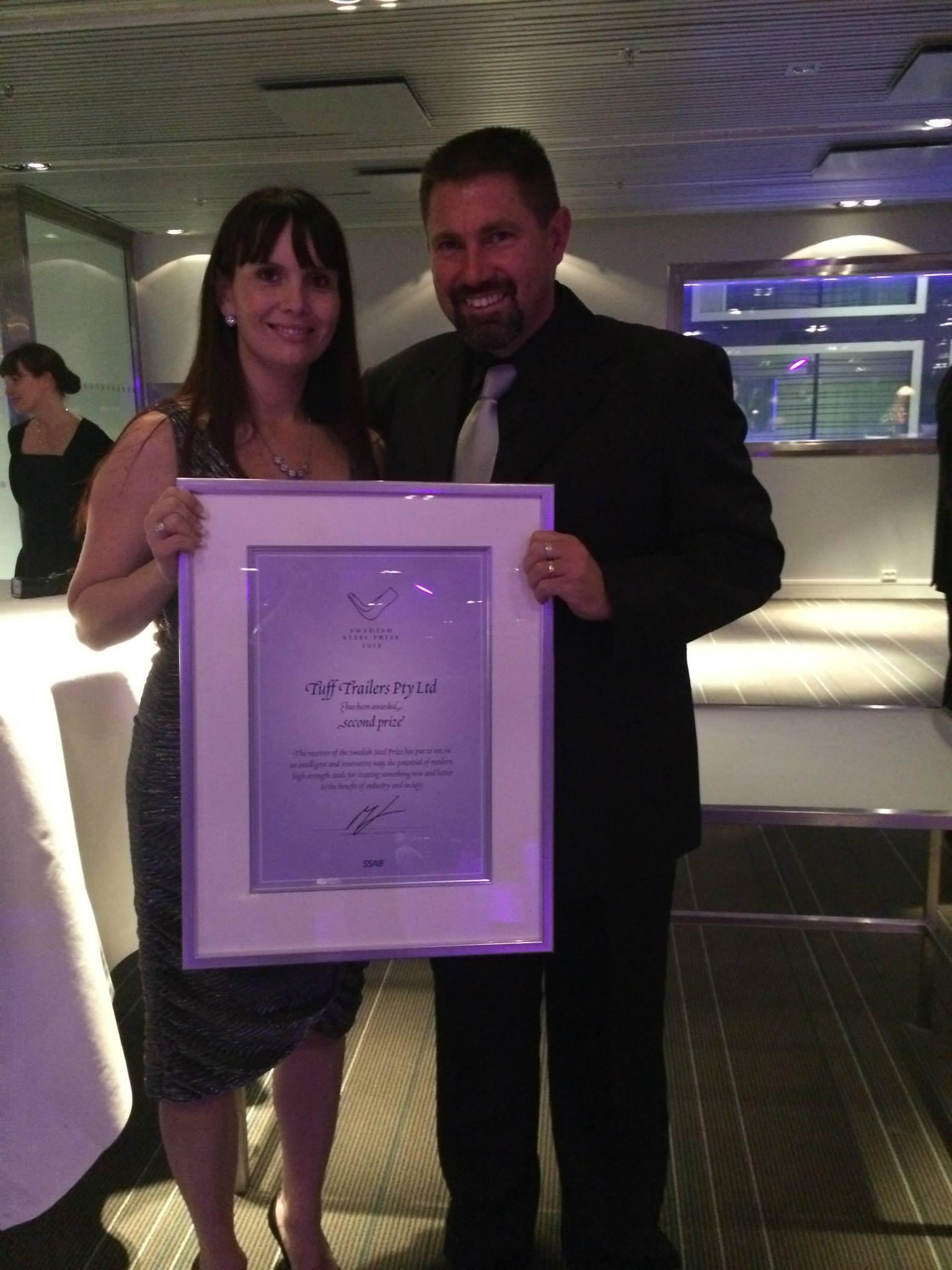 Denis and Nicole Di Pasquale - 2013 Swedish Steel Prize