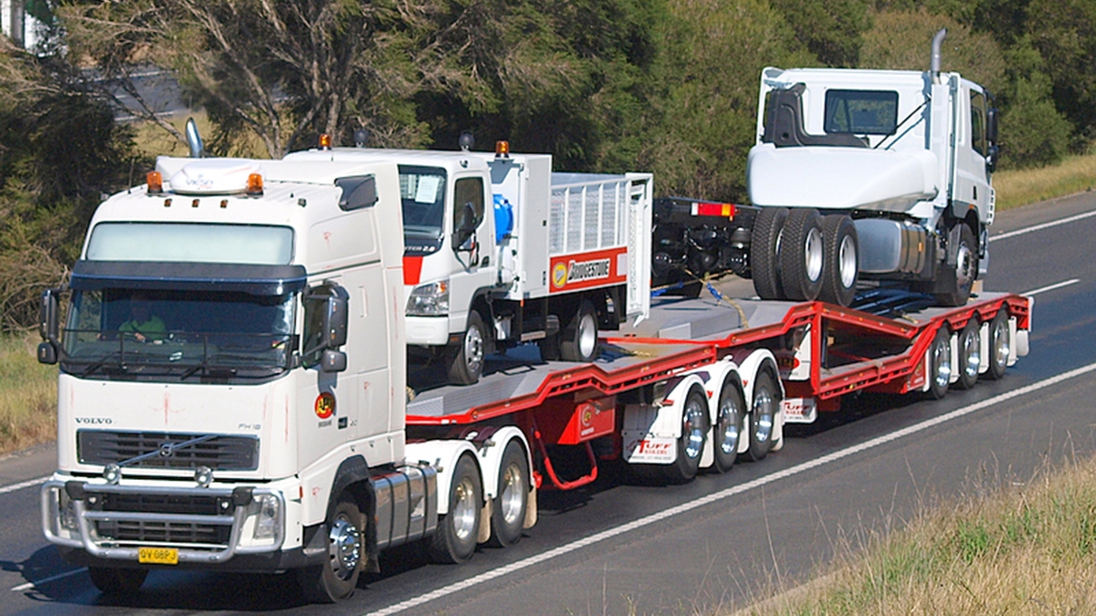 A+B Double 3x4 Truck Transporter
