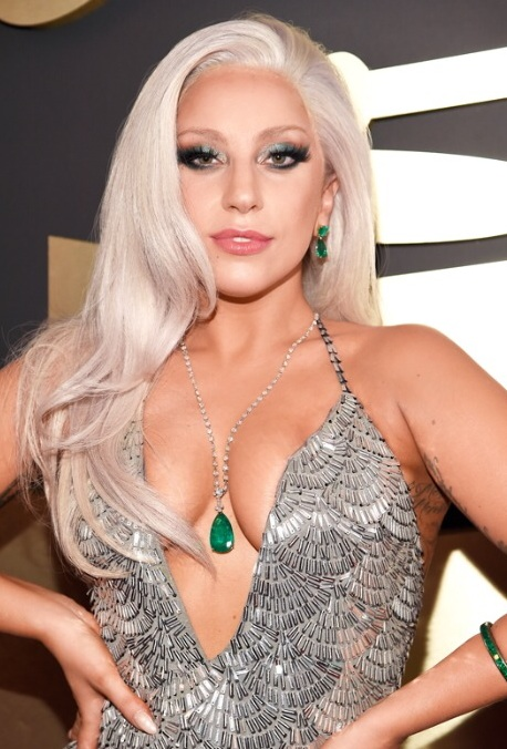 Lady Gaga hair and make-up 2015