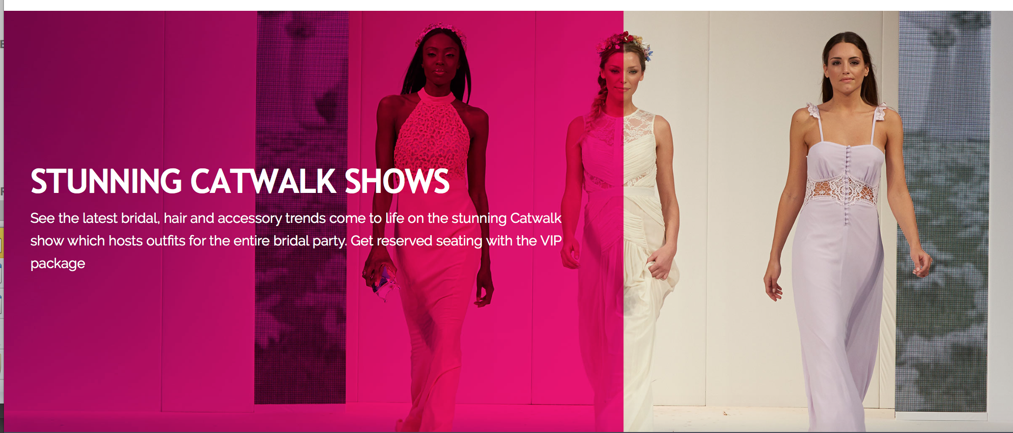 Catwalk orchid blush national wedding show