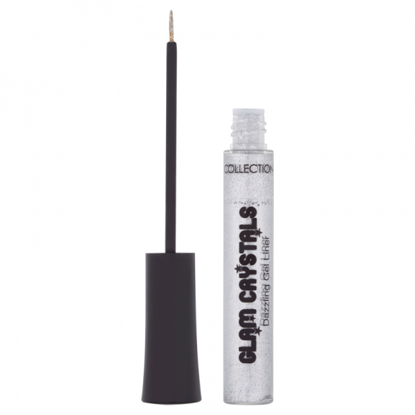 Collection 200 Glitter Eyeliner - £2.99  - Fine glitter particles suspended in a clear, quick-drying gel. - Fine tip precision brush for easy application. - Adds instant glamour to any eye make-up look.