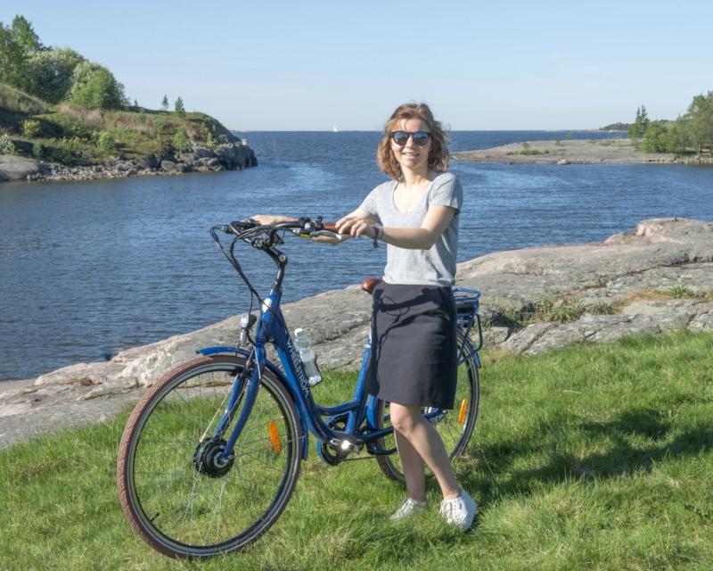 Rina on pyöräilyn ja Itämeren puolella. Hän perusti Wheelström sähköpyöräyrityksen 2017.