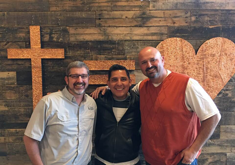 PIctured L-R | Mark HIrst (Lead Pastor), Nicolas velasco (Campus Pastor), Trent Thompson (Campus Pastor)